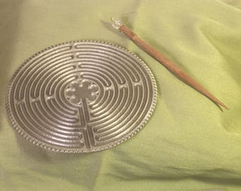 Chartres Hand Held Pewter Labyrinth