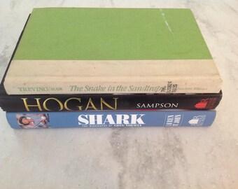 Three vintage golf books, Ben Hogan, Greg Norman, Lee Trevino, 1980's-1990's