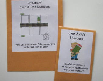 2 Teacher Made Math Center Learning Resource Games Even & Odd Numbers