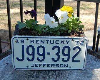 Kentucky License Plate Planter