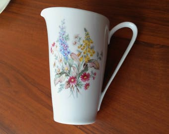Gentle and delicate vintage Hutchenreuter pitcher made between 1969 and 1972