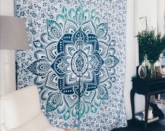 Green Bohemian Mandala Curtains