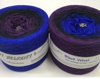 Wolltraum 'Black Velvet' 3 Ply Gradient Yarn