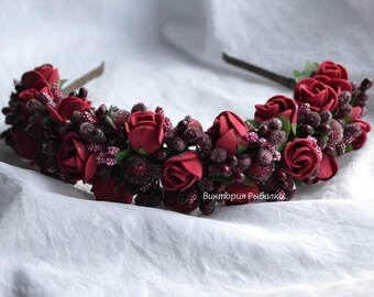 Flower crown Hair hoop Bridal flower crown  Wedding flower crown Girls flower crown Haipiece