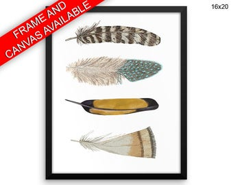 Feathers Canvas Art Feathers Printed Feathers Home Art Feathers Home Print Feathers Framed Art Feathers feather art feather painting
