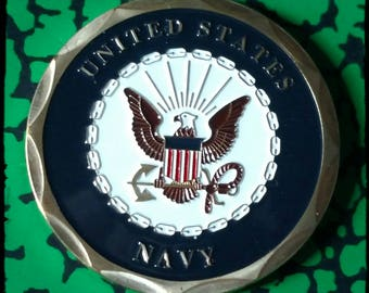 Navy Shellback New Military Colorized Challenge Art Coin