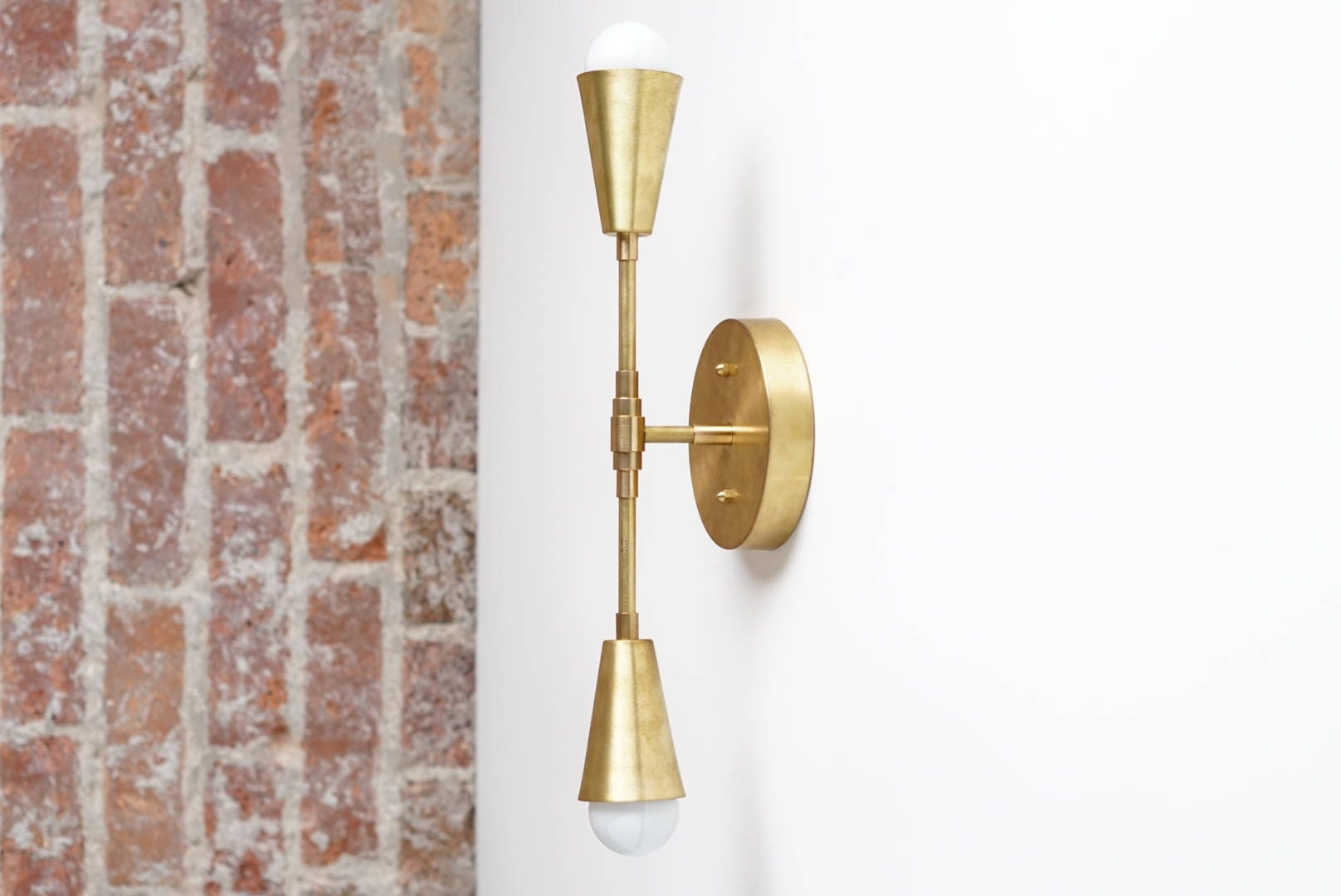 Brass sconce light wall sconce modern sconces gold wall zoom amipublicfo Choice Image