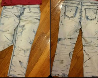 Cosplay, Cel Shade Pants, Capri length, Denim, Comic Style Cel-shaded