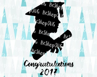 Congratulations Grads SVG, Class of 2017 SVG, Graduation hat SVG, 2017 Graduation Svg, Graduate Svg, Instant download, Eps - Dxf - Png - Svg