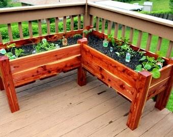 Red Cedar Raised Planter Box