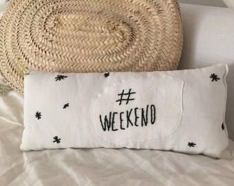 Cushion white & black