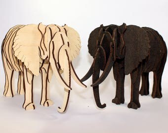 3D-puzzle Elephant made of wood