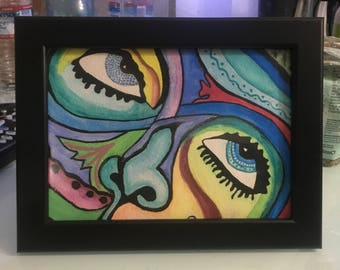 Colorful Face in Frame