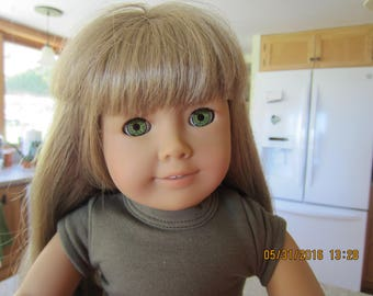 "18"" American Girl Doll/  Beautiful long Blonde Hair with Green Eyes"