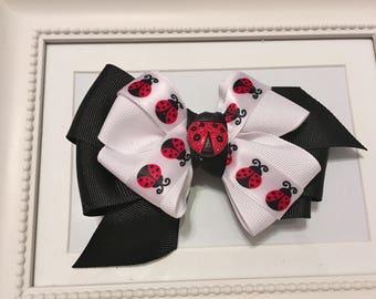 Cute as a Bug Layered Ladybug Bow