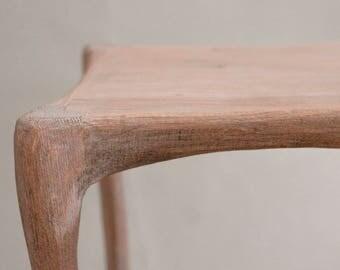 organic oak stool