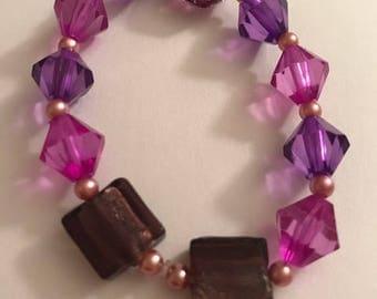 royal purple bead bracelet