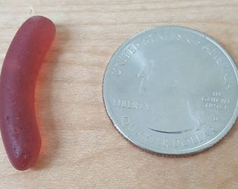 Red (cranberry) jewelry quality sea glass