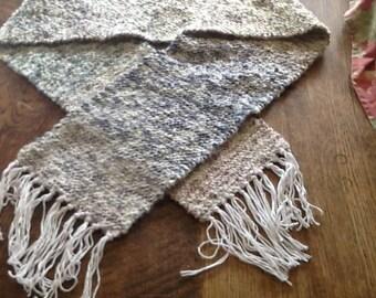 Homespun woven scarf