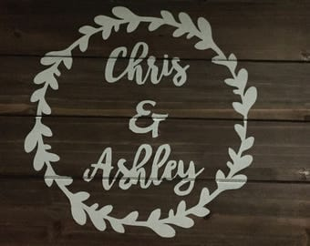 Hanging Sign- with names