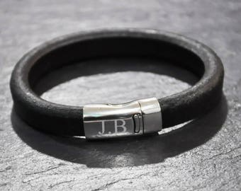 Personalised Plain Leather Bracelet