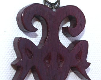 Soul Mates Solid Wood Handcrafted Necklace Pendant - Made to Order -Choose Your Own Design