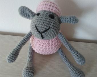 Crochet amigurumi sheep, fato a mano, upholstered toy, stuffed animal, soft toy, kids gift, sheep toy, plush sheep