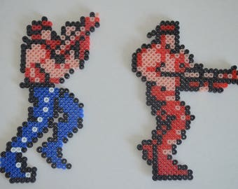 Contra: Bill Rizer and Lance Bean - Perler Bead Sprite