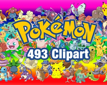 493 Pokemon ClipArt - Digital , PNG, image, picture,  oil painting, drawing,llustration, art , birthday,handicraft 300 DPI, 300 PPI