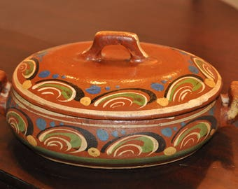 Indian Pottery Casserole Dish
