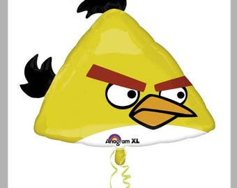 "Yellow Angry Birds 23"" Supersize Helium Balloon"