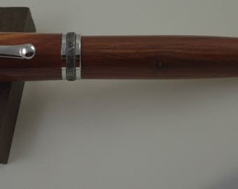 Gorgeous Statesman Rollerball in rhodium plating and fresh cedar. Fabulous gift or personal statement.