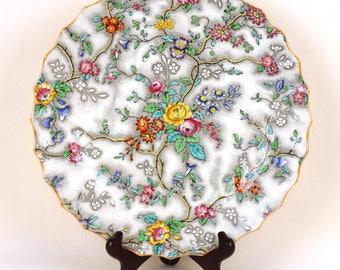 Antique Set of 12 Copeland Spode Dinner Plate Set- Patricia Pattern