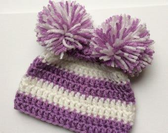 Sweet Baby Double Pom-Pom Hat
