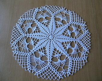 """""""Italy"""" round crochet doily"""