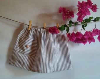 Striped summer baby skirt