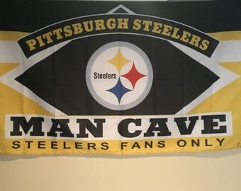 Pittsburgh Steelers Man Cave Wall Flag