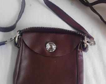 hand made leather purse