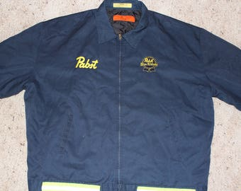 3XL Pabst-Safety Work Mechanic's Jacket-Retro Beer