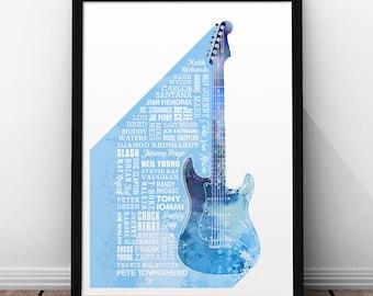 Heroes of Guitar Print