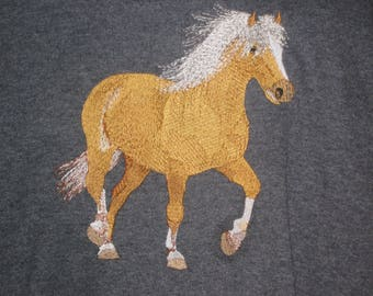 New Haflinger In Motion Embroidered T-Shirt