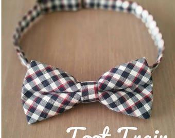Plaid Bow Tie Tartan Chequered Bow Tie Baby Children Kids Size Black Red White Check