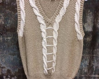 Hand Knitted Vintage Sweater Vest