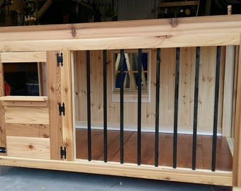 The ultimate dog kennel for your home.  Perfect for medium, large, or extra large pets!