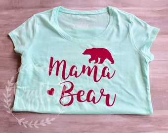 Mama Bear Shirt Women's Fitted Shirt