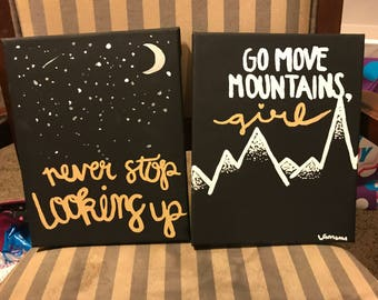 2 inspirational Quote canvas