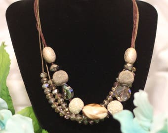 Hand Beaded Layered Necklace
