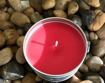 GreenBeanCandle 8oz candle in Red Pineapple