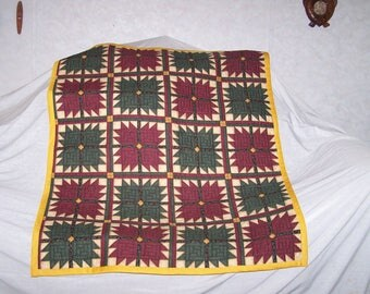 """Hand Sewn Quilted Lap Warmer (43""""L X 35.5""""W) """"Bear Paws"""""""