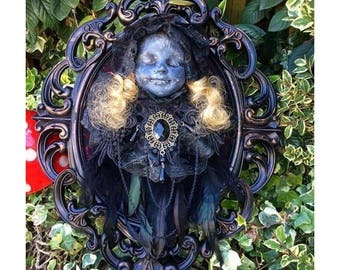 Gothic Victorian Doll Wall Hanging